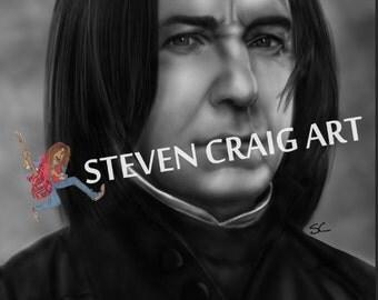 Professor Snape *Alan Rickman* poster print