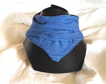 Bib-blue bandana, cotton rustic