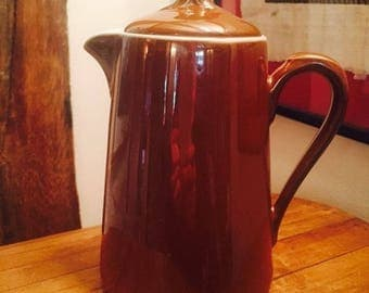 Royal Worcester, Brown Lustre Ware, Coffee Pot, Fireproof, Vintage, Collectable, Kitchenalia, 1 Pint Coffee Pot, Made in UK, Lustreware