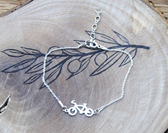 Bracelet with a bicycle symbol in 925 sterling silver