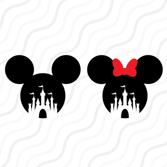 Disney Castle SVG, Mickey Mouse, Minnie Mouse SVG Cut table Design,svg ...