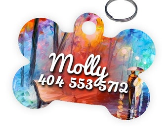 Cute Artsy Personalized Pet Tag for Dog