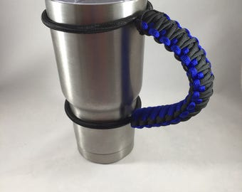 Bungee tumbler handle