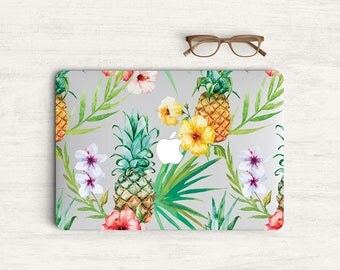 Watercolor Tropical Fruit Plants Sticker Skin Vinyl Decal for MacBook Laptop K0585