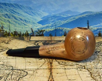 handcrafted hickory small tomato smoking pipe