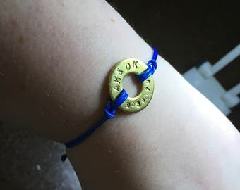Initial and special date bracelet