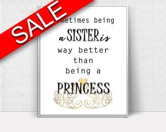 Wall Art Sister Digital Print Sister Poster Art Sister Wall Art Print Sister Family Art Sister Family Print Sister Wall Decor Sister