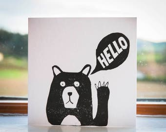 Hello Bear -  Greeting Card