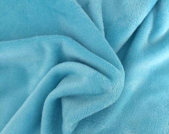 Alpenfleece uni, bright turquoise 7991