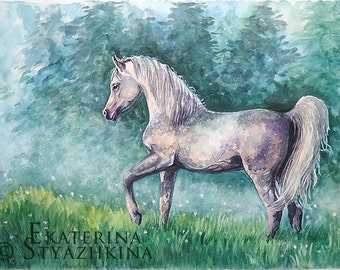Horse Painting | Horse Wall Art | ORIGINAL Watercolor Painting | Equine Art | Christmas Gift | Horse Art | Equestrian Art | Horse Decor