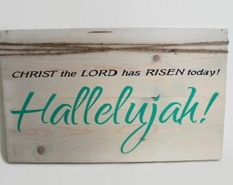 Easter Wood Sign, Easter Decor, Easter Wall Art, Jesus Easter Sign, Spring Decor, Hallelujah Sign, Church Decor, Farmhouse Easter Sign