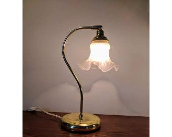 VINTAGE lamp light articulated Tulip style Art Nouveau, made of brass