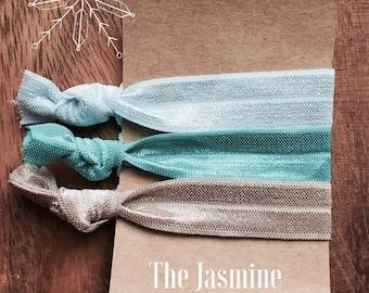 "Hair Tie Elastics ""The Jasmine"" Aladdin Ribbon Hair Bracelets ~ Gifts, Yoga Hair, No Crease, Hair Bands, Disney, Hair Accessories"