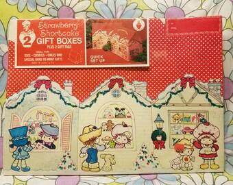Strawberry shortcake gift boxes NOS