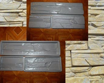 Plastic Molds for Concrete Plaster wall stone tiles Garden Decoration  3 pc x lot