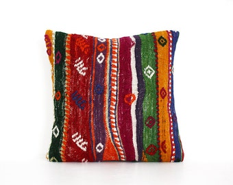multicolor bohemian pillow  throw pillow cover throw pillows pillow case boho chic pillow, accent pillows, accent pillow,embroidered