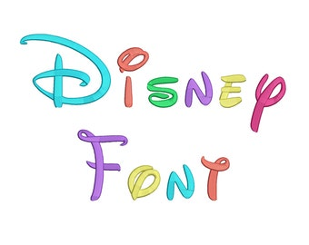 5 Size Disney Font Embroidery Fonts BX Instant Download 9 Formats Embroidery Pattern Machine BX Embroidery Fonts PES