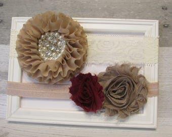 Baby Headbands /Baby girl headband, newborn headband/ girls headband/flower headbands/ baby bow headband/Lace headband/Infant