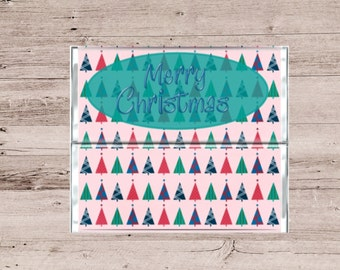 Bright Color Merry Christmas Chocolate Bar Wrapper-Merry Christmas Candy Bar Wrapper-Christmas Candy Wrapper-Candy Wrapper-Chocolate Wrapper