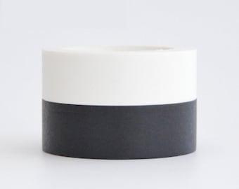 Black/White Washi Deco Tape - 15mm X 10 metres