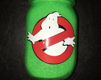 Ghostbusters Glitter Mason Jar Night Light