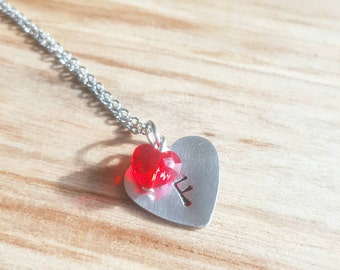 Necklace with hearts
