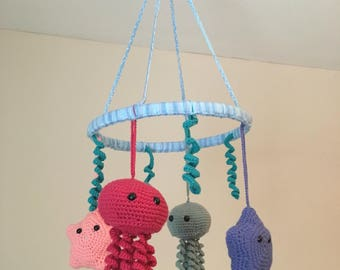 Under the Sea Crochet Baby Mobile