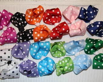 Boutique Polka Dot Bow, Boutique infant bow, Boutique baby bow, Boutique toddler bow,