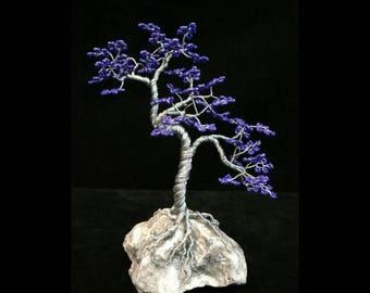 Wire Tree Handmade Beaded Bonsai Sculpture - Upflo style