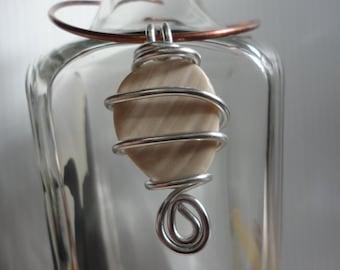 Sea Glass Wire Wrapped Pendant 9