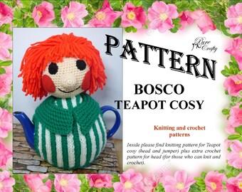 PATTERN for BOSCO teapot cosy / BOSCO Teapot cosy/ Knitted teapot cosy pattern/Crochet teapot cosy