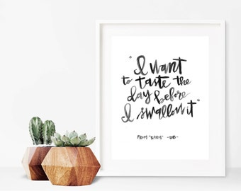 Taste // A4 Calligraphy Poetry Line Print