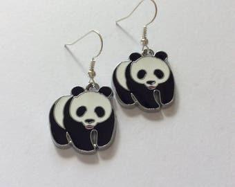Panda earrings / panda jewellery / animal earrings/ animal jewellery /  animal lover gift