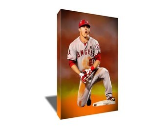 Mike trout art etsy for Bryce harper mvp shirt