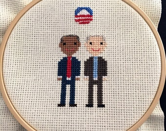 Obama Biden Cross Stitch