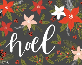Christmas card / winter flowers / poinsettia / Christmas greeting / PNG / Christmas / Printables / wish / Noel