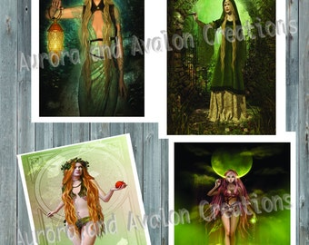 Pagan Art, set of 4