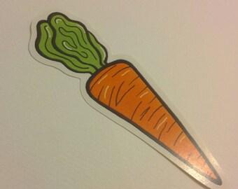 A wee carrot sticker