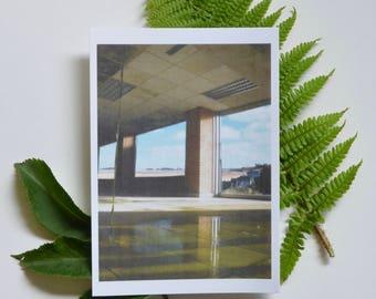 Through the windows - postcard print