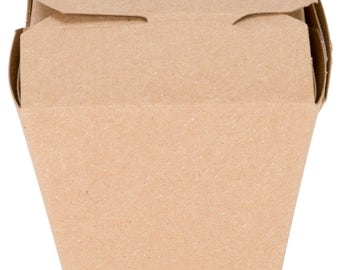 16 oz Kraft Microwavable Paper Take-Out Container, Take Out Boxes, Containers, Take Out Container, Eco-Friendly, Wedding Favor, Party  Favor