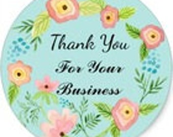 "24 PCS ""Thank You For Your Business"" sticker, Seals, Scrapbook Supplies, Stationary, Paper, Paper Stickers, Stickers, Paper Supplies"