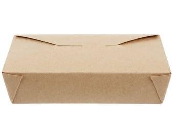 25 PCS 49 oz Kraft Microwavable Paper Take-Out Container, Take Out Boxes, Containers, Take Out Container, Eco-Friendly, Party, Wedding