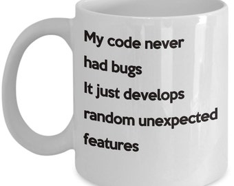coding bugs funny coffee mug for coders