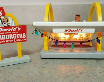 Mcmemories McDonald's/Vintage Ceramic McDonald's/Lighted 1996  Restaurant Collectible