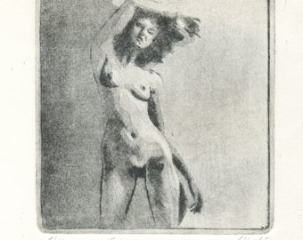 """engraving original """"Eve"""""""