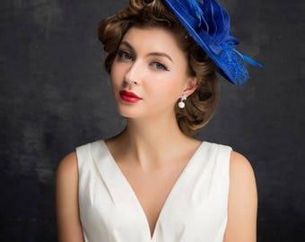 Handmade Fascinator Hat, Tea Party Hat, Church Hat, Derby Hat, Fancy Hat, wedding hat, British Hat Kentucky Derby Hat 6351