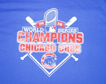 Chicago Cubs Shirt - Chicago Baseball - Chicago Shirt - World Series - Unisex Sizing - Chicago Championship Trophy