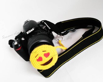 Lens cover for camera lens Photography Accessories Photographer Gifts camera lens cap lens cap leash photo accessories Smileys
