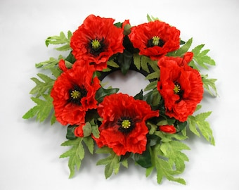 ANZAC Day Wreath with Artificial Poppies