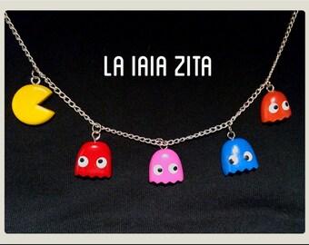 Pacman necklace